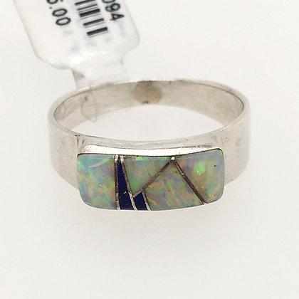 Opal and lapis lazuli ring