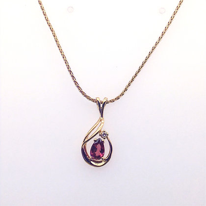 Spinel and topaz necklace