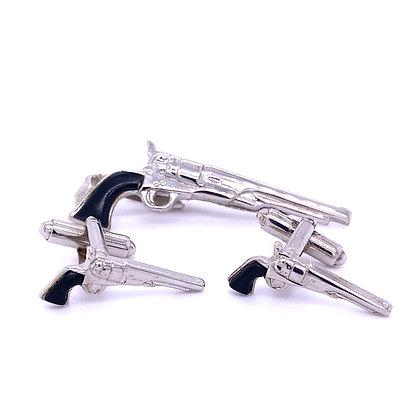 Cuff link/ tie clip set