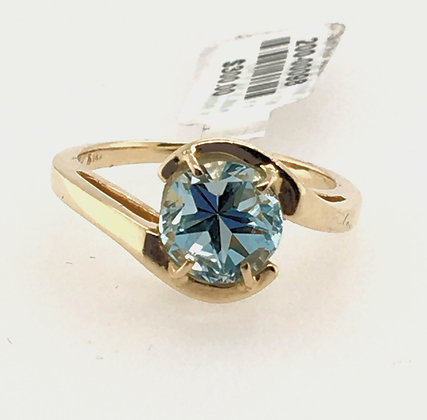 Blue topaz texas star ring