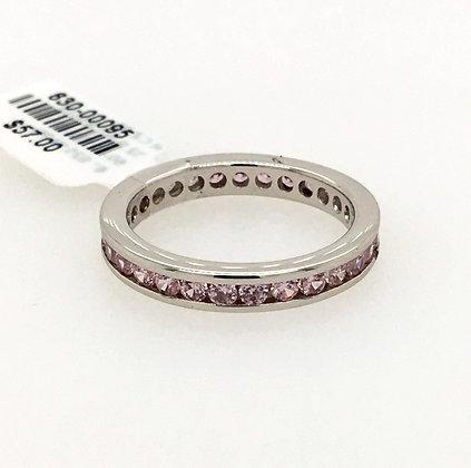 Pink cubic zirconium ring