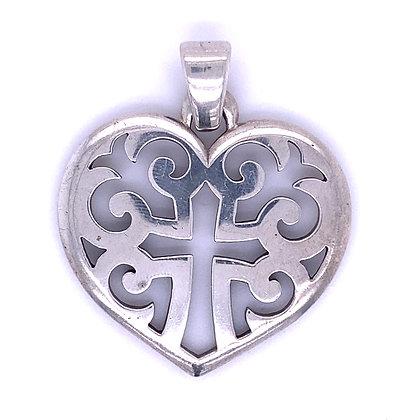 James Avery heart/ cross pendant