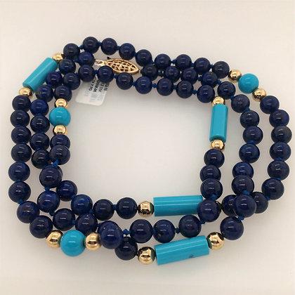 Lapis lazuli and turquoise necklace