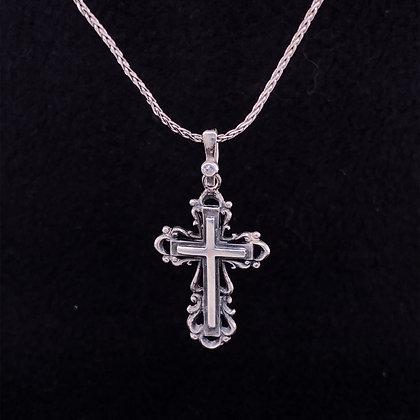 Antique cross necklace