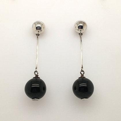 Onyx earrings