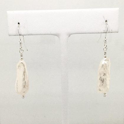 Biwa pearl earrings