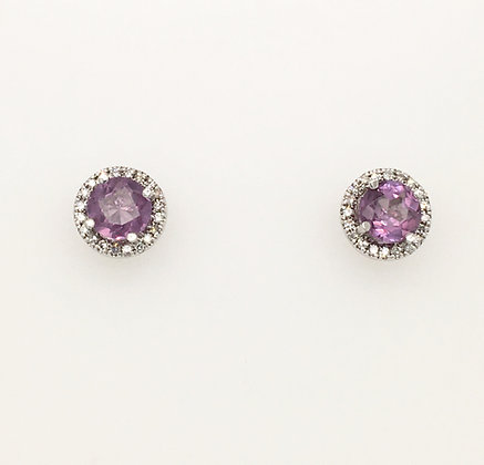 Alexandrite and diamond earrings