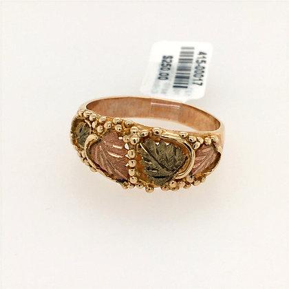 Black Hills Gold leaf ring