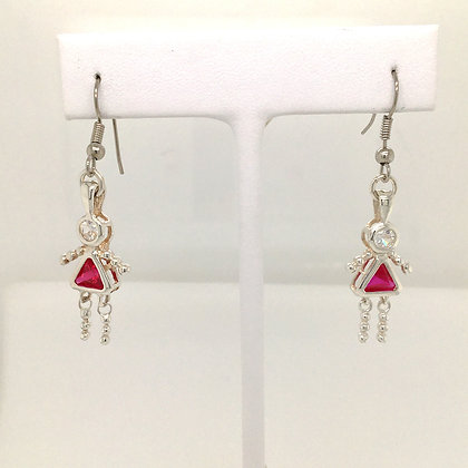 Cubic zirconium charm earrings