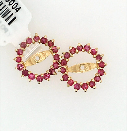 Ruby earring jackets