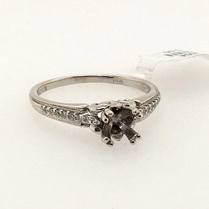 Diamond semi-set ring