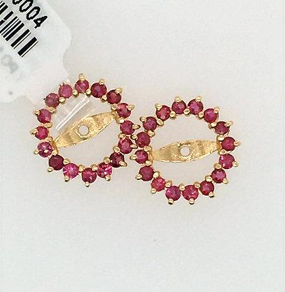 Ruby earring jackets