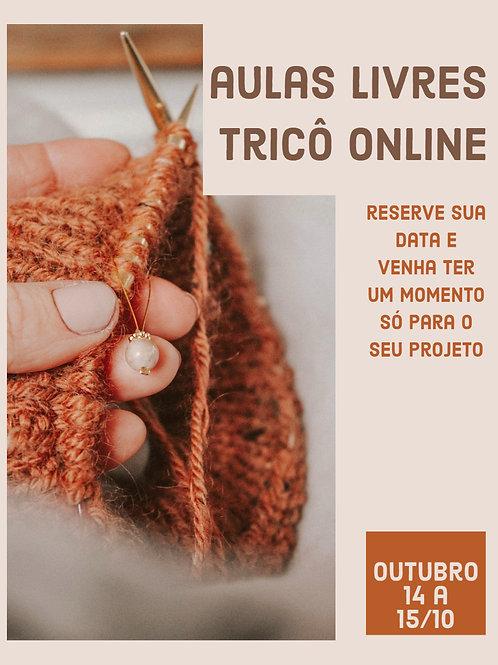 Tricô Livre - Aula online individual (OUT/20 - Semana de 09 a 15/10)