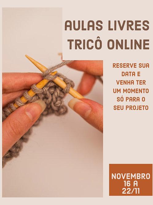 Tricô Livre - Aula online individual (NOV/20 - Semana de 16 a 22/11)