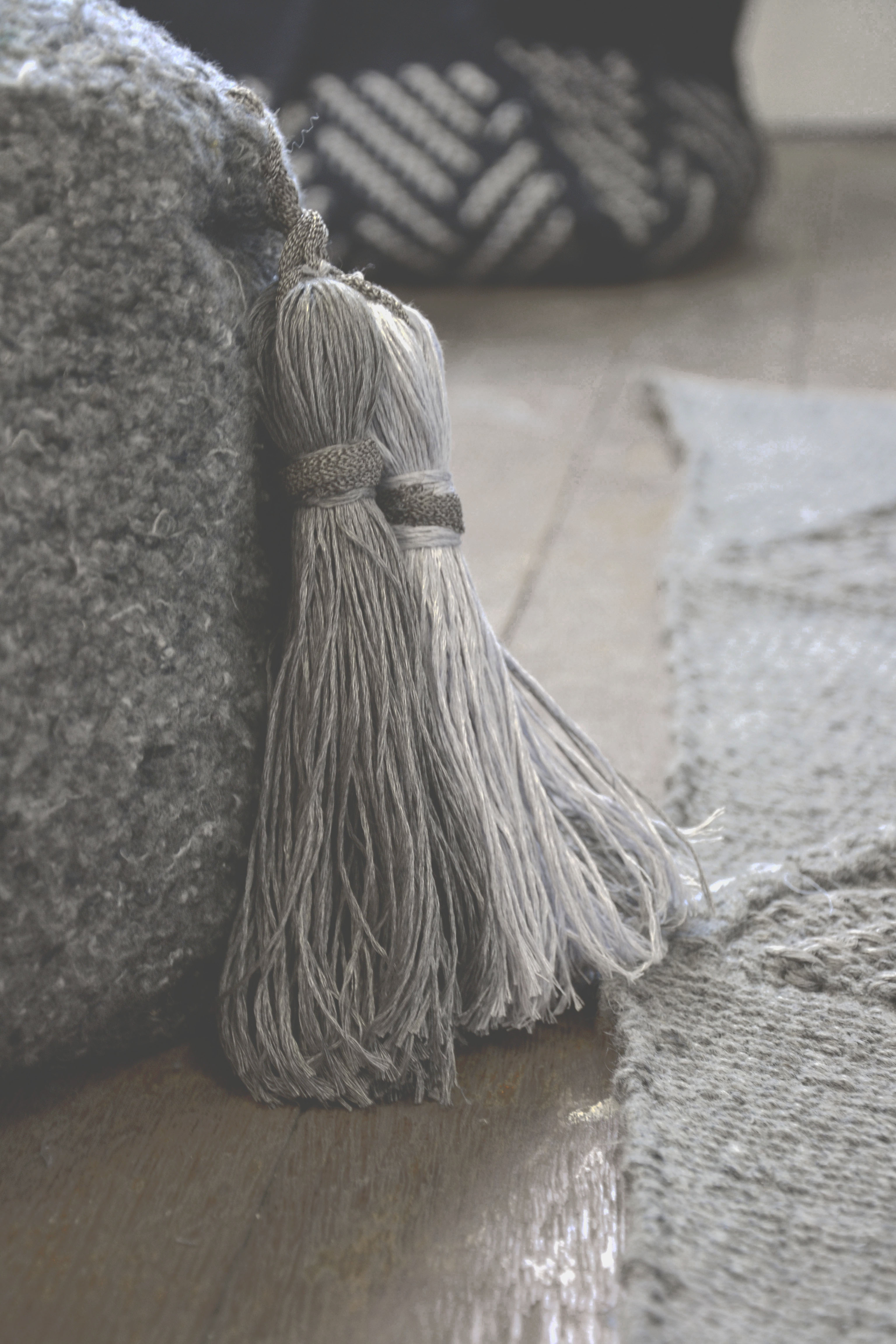 Waste Yarn Tassels