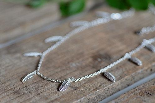 Halskette Federn