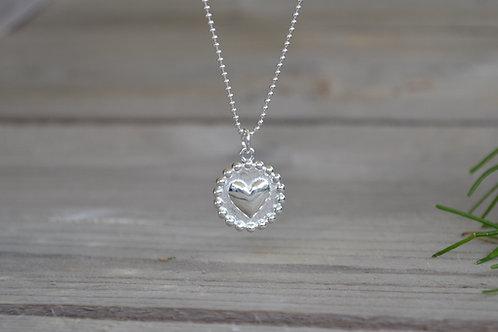 Halskette Herzmedaillon