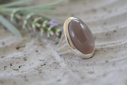 Silberring mit grossem Stein