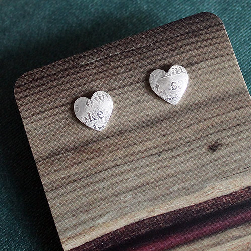 Large Silver Sonnets Studs