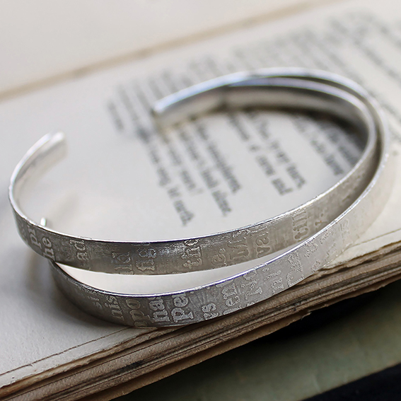Silver Fragments Cuffs