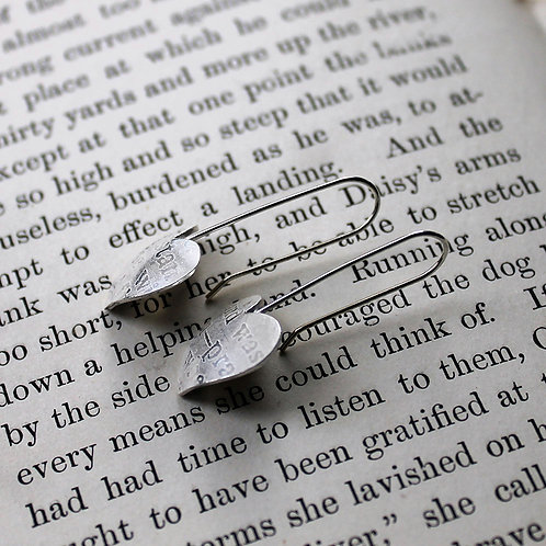 Large Silver Sonnets Drops