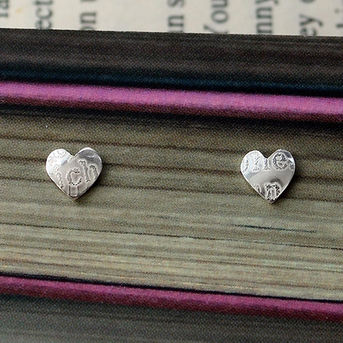 Small Silver Sonnets Studs