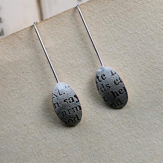 Large Oval Fragments Drop Earrings