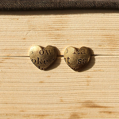 Large Gold-plated Sonnets Studs