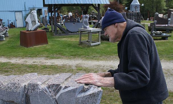 Hank Nelson inspecting progress