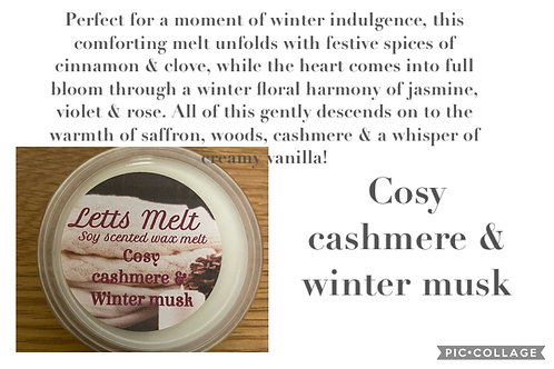 Cosy cashmere and winter musk