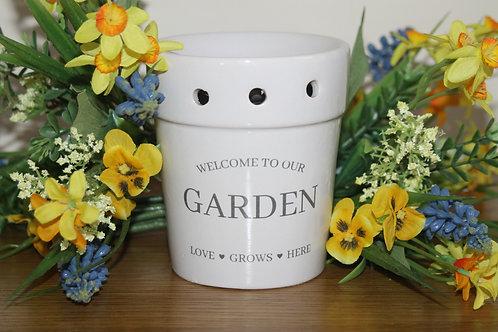 White Garden burner