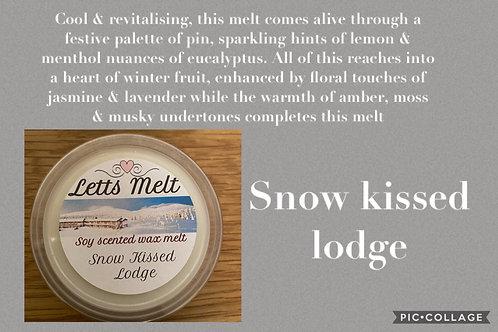 Snow kissed lodge