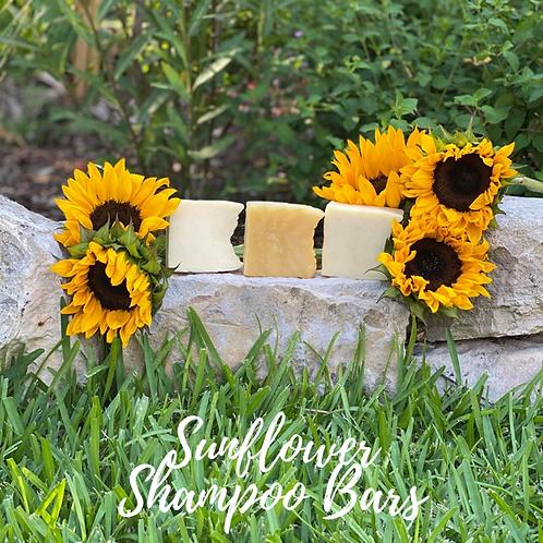 Vegan Sunflower Coconut Shampoo Body Bar