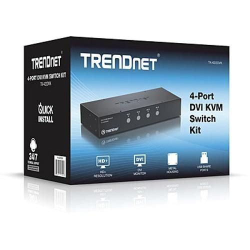 TRENDnet 4-port DVI KVM Switch Kit