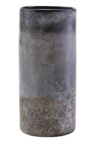 Jarrón cristal y arena d14x30cm