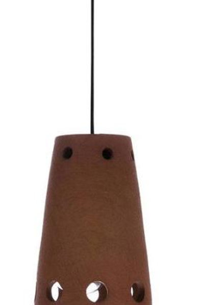 Lámpara suspensión terracota d.10 x h15,5 cm.