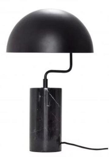 Lámpara con base de mármol negra. d38 x h48 cm.