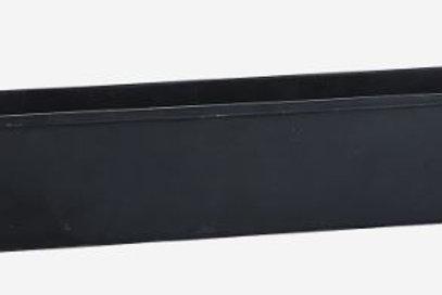 Bandeja metálica negra con asas de madera 32x9xh6 cm
