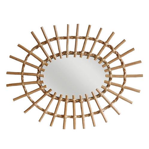 Espejo marco ratán ovalado