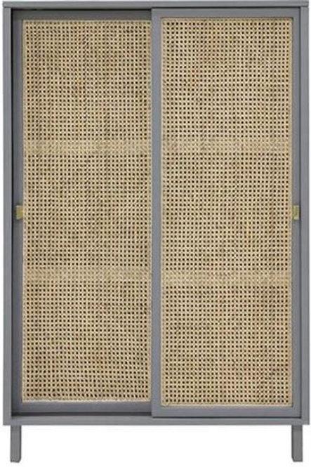 Armario gris puerta corredera de enea 95x40x140 cm