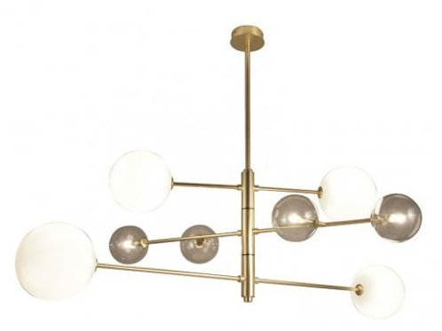 Lámpara Atom Colgante 8xG9 3W 2700K ORO