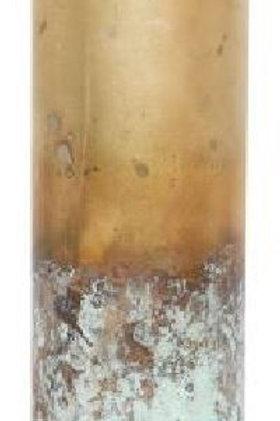 Jarrón dorado-óxido pequeño
