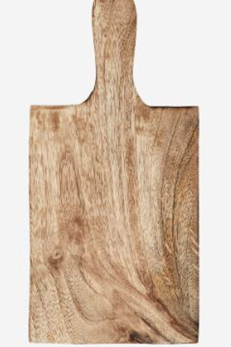 Tabla de madera de mango rectangular 12,5x26,5 cm.