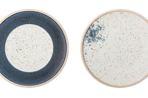 Plato pequeño de gres esmaltado Hazel Ø21 cm