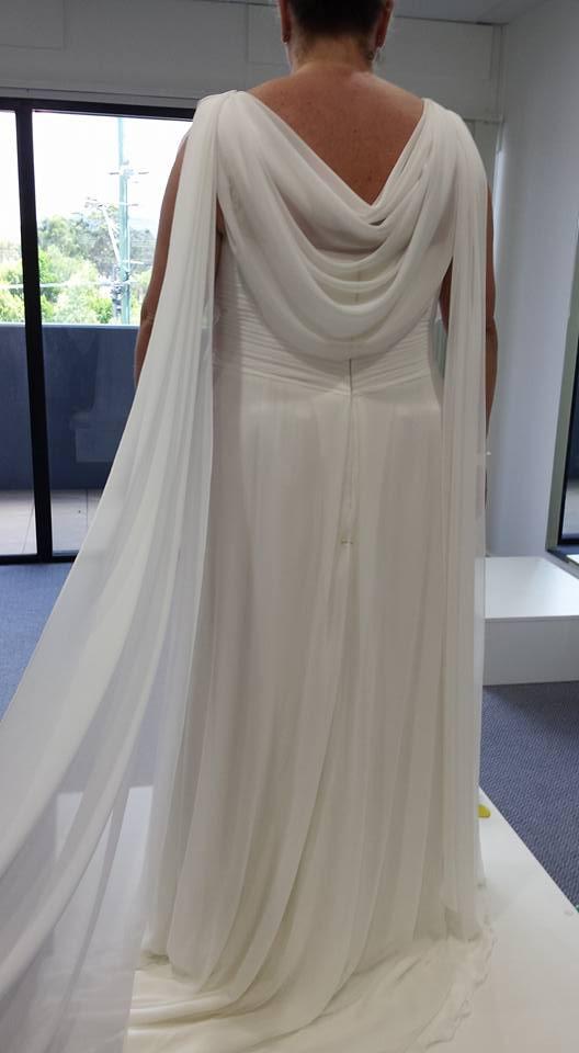 Back cowl & side shoulder drapes