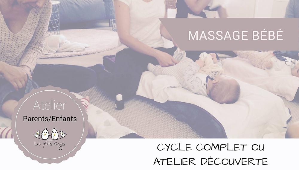 Ateliers massage bébé