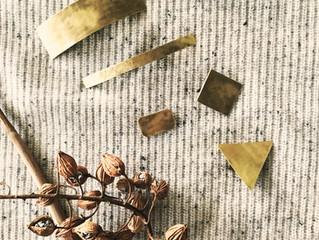 真鍮と天然石