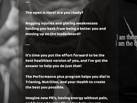 The Performance plus program is for you!