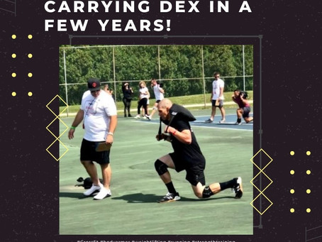 Practicing for Carrying Dex in a few years!