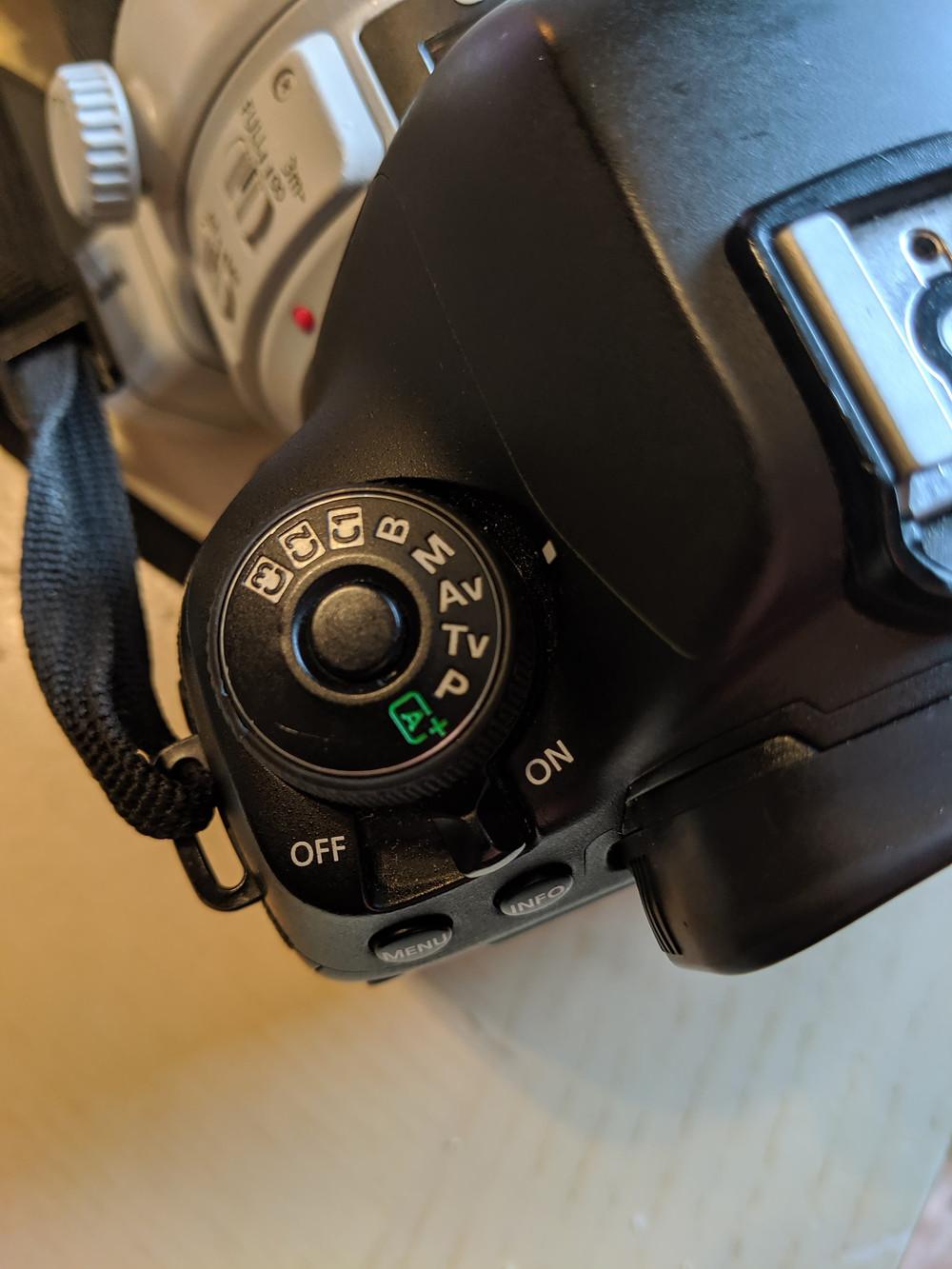 Camera set to aperture